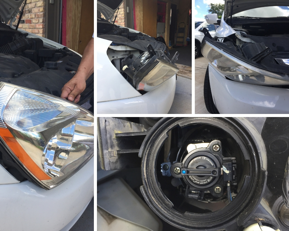 Kia Sedona Headlight Replacement