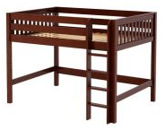 Bean Bag Store Full Size Mid High Wood Loft Bed