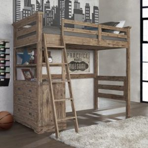 Loft Bed with 4 Drawer Chest